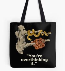 Two snakes in a tree. Tote Bag