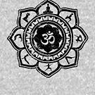 Vintage Om Yoga Lotus Flower by EthosWear