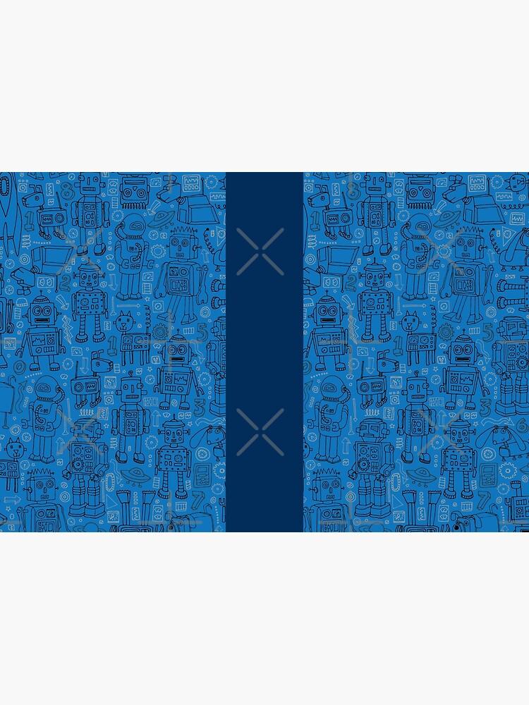 Robot pattern - Blue - fun pattern by Cecca Designs by Cecca-Designs