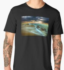Waves On The Beach Shore Men's Premium T-Shirt