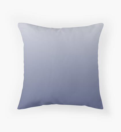 Ashy Marlin blue ombre Throw Pillow