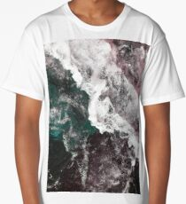Abstract Water, Aerial Ocean Waves Long T-Shirt