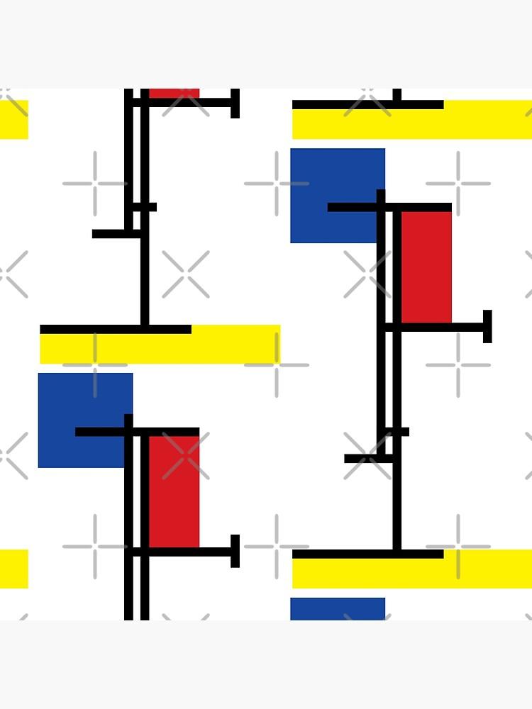 Mondrian Minimalist De Stijl Modern Art III © fatfatin by fatfatin