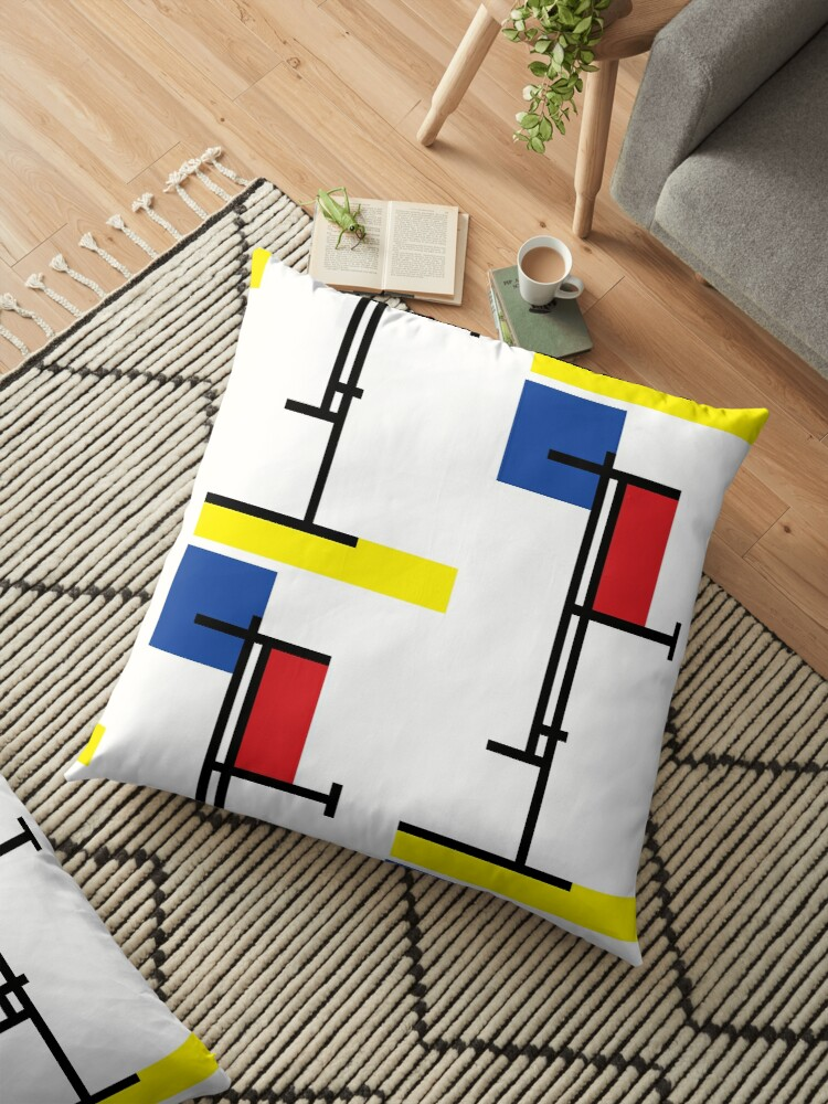Mondrian Minimalist De Stijl Modern Art III by fatfatin