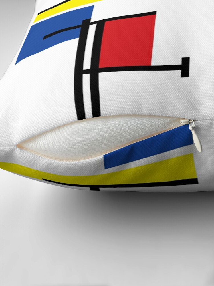 Alternate view of Mondrian Minimalist De Stijl Modern Art III © fatfatin Floor Pillow