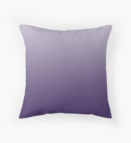 Vibrant Violet Indigo ombre Throw Pillow