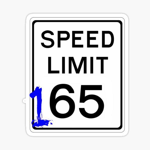Course de rue 165mph signe Sticker