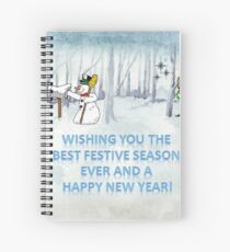 Wishing you the Best Festive Season ever! Spiral Notebook