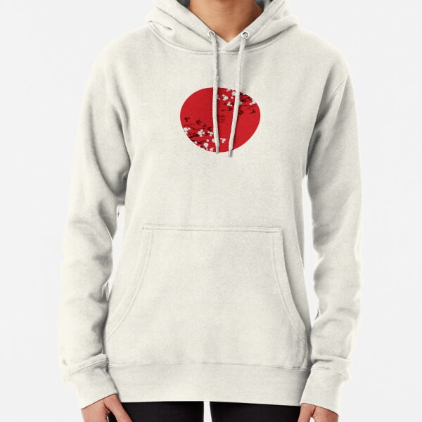 White Oriental Cherry Blossoms on Red and Chinese Wedding Double Happiness | Japanese Sakura © fatfatin  Pullover Hoodie