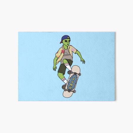 Alien Skater Art Board Print