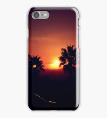 Sunset with Palm Trees iPhone Case/Skin