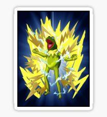Super Saiyan Kermit Sticker