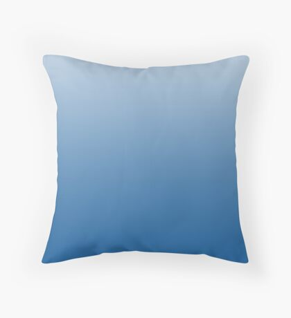 Bright Imperial Blue ombre Throw Pillow