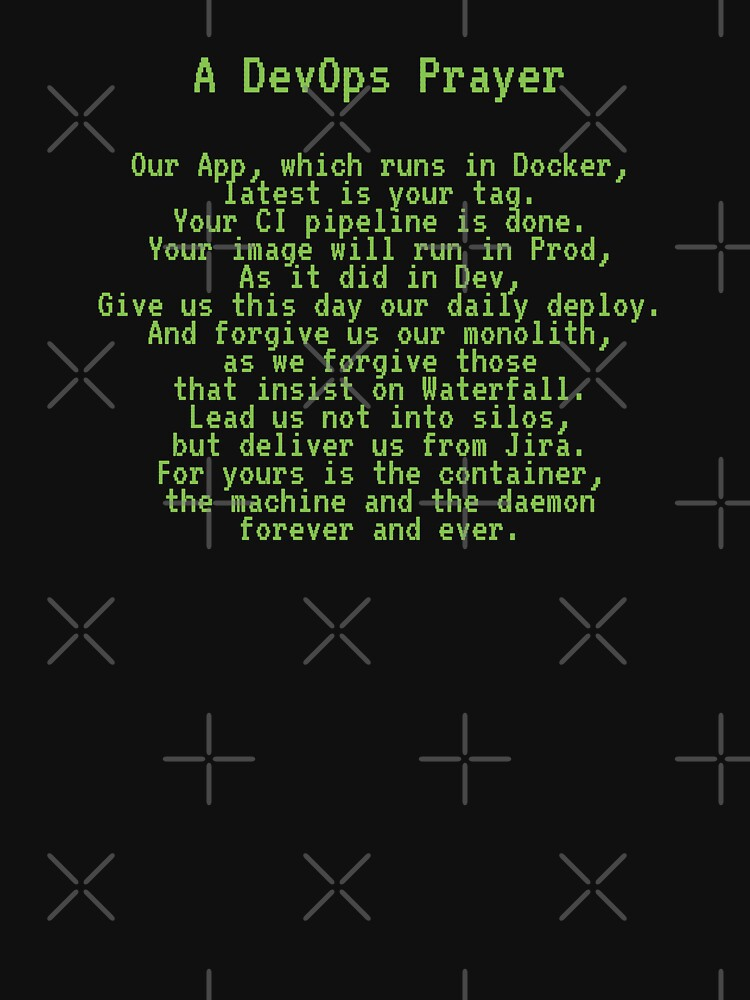 A DevOps Prayer by unixorn