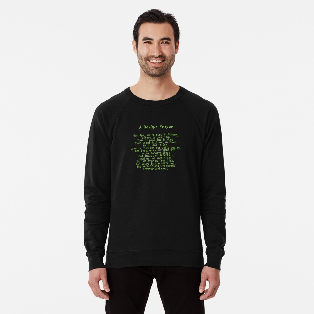 A DevOps Prayer Lightweight Sweatshirt