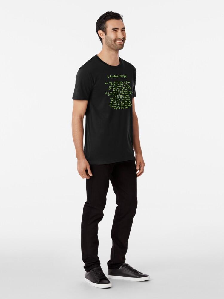 Alternate view of A DevOps Prayer Premium T-Shirt