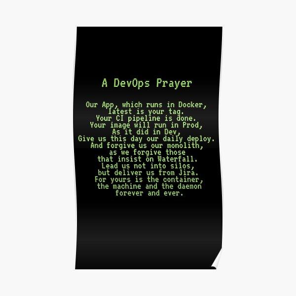 A DevOps Prayer Poster