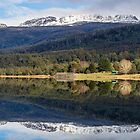 Reflections on Huntsmans Lake by Leeo
