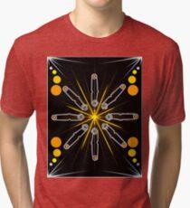 Flint Striker Mandala Graphic Science Pride Tri-blend T-Shirt