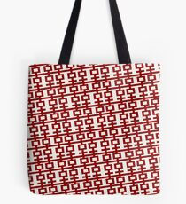 Simple Red Double Happiness In A Tilt Pattern, A Traditional Oriental Auspicious Symbol    Modern Chinese Wedding  Tote Bag