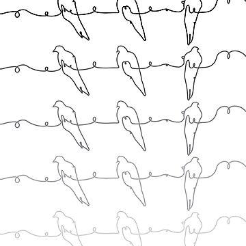 Wire of Birds by DiseasedBones