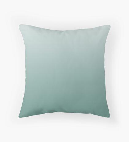 Dark Beryl Green ombre Throw Pillow