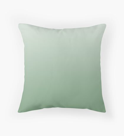 Bold Mineral Green ombre Throw Pillow