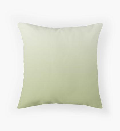 Earthy Nile green ombre Throw Pillow
