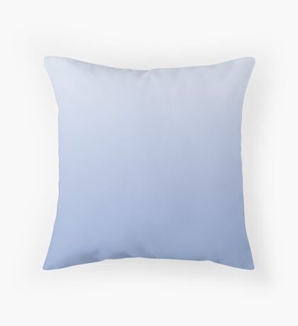 Bright Serenity blue ombre Throw Pillow