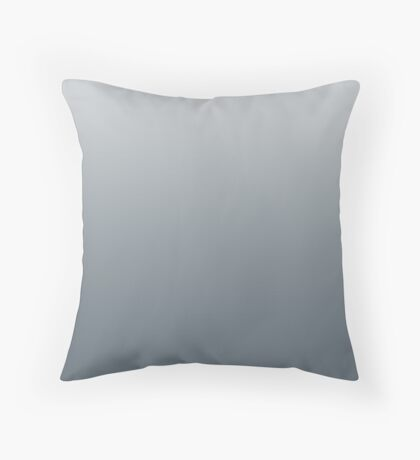 Dark Stormy Weather grey ombre Throw Pillow