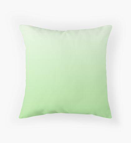 Intense Paradise Green ombre Throw Pillow
