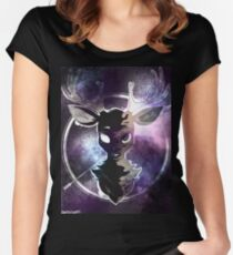 Galaxy Tucker the Deer Women's Fitted Scoop T-Shirt