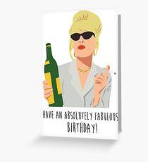 Tarjeta de felicitación ¡Que tengas un cumpleaños absolutamente fabuloso!