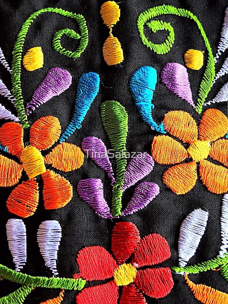 Mexikanische Blumen Stickerei von TinaSalazar