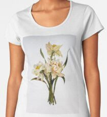 Double Narcissi In A Bouquet Women's Premium T-Shirt
