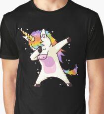 Dabbing Unicorn Shirt Dab Hip Hop Funny Magic Graphic T-Shirt