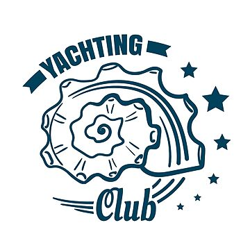 Yachting Club Badge With Seashell by Chesnochok