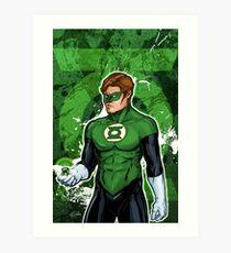 Green Super Hero Art Print