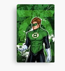 Green Super Hero Canvas Print