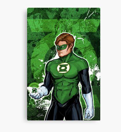 Green Super Hero Canvas Print