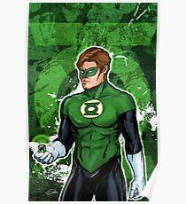 Green Super Hero Poster