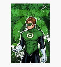 Green Super Hero Photographic Print