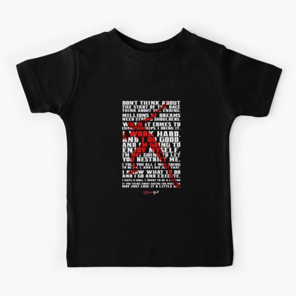 """Don't think about...""""Usain Bolt"""" Life Inspirational Quote Kids T-Shirt"""
