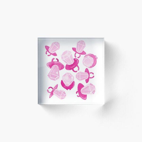Ring Pop Pink Sparkle Acrylic Block