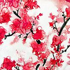 Cherry Blossoms III by Kathie Nichols