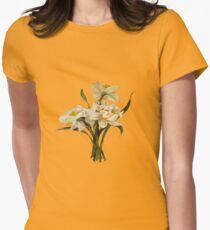Double Narcissi Bouquet Vector Women's Fitted T-Shirt
