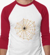 Spider Web Pattern - Black on Orange - Halloween pattern by Cecca Designs T-Shirt