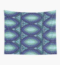 Geodesic Marquise - sapphire - Geometric pattern by Cecca Designs Wall Tapestry