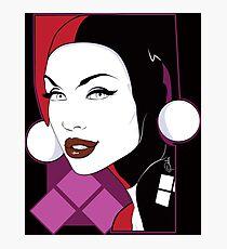 Female Super Villain Photographic Print