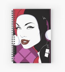 Female Super Villain Spiral Notebook